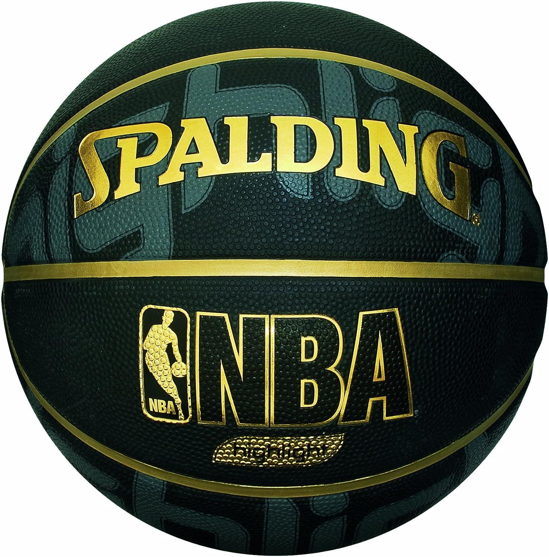Spalding NBA Highlight Black Ballon de basket Noir 7 3001550015817