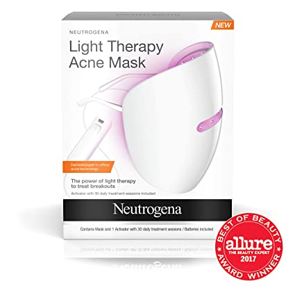 Neutrogena Light Therapy Acne Treatment Face Mask, Chemical & UV-Free with Clinically Proven...