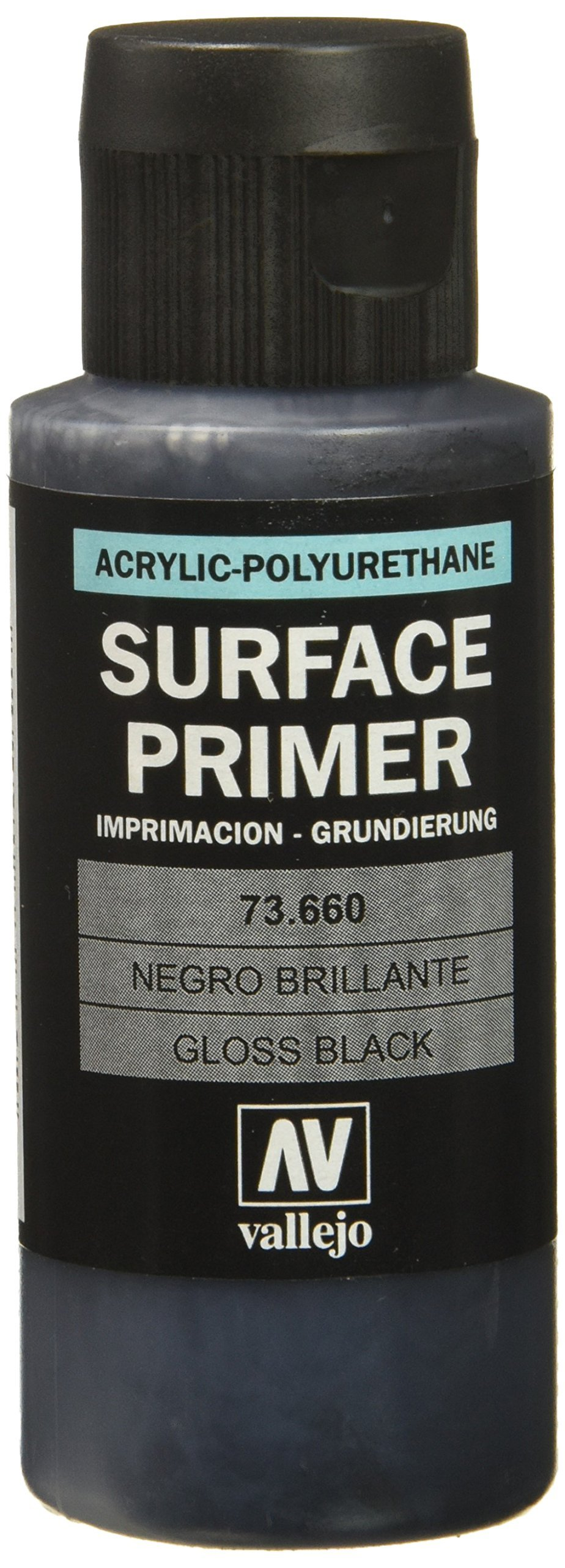 "Acrylicos Vallejo VJ73660 60 ml""Gloss Black Primer"" Metal Color"