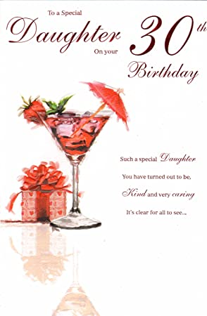 Daughter On Your 30th Birthday Card
