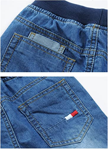 LISUEYNE Baby Boy Summer Casual Blue Jean Shorts Holey Ripped Denim Shorts Short Jeans for Boys
