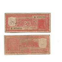 AI Indigo Creatives Rare Republic India Rs20 Note with Konark Wheel on Back (Multicolour)