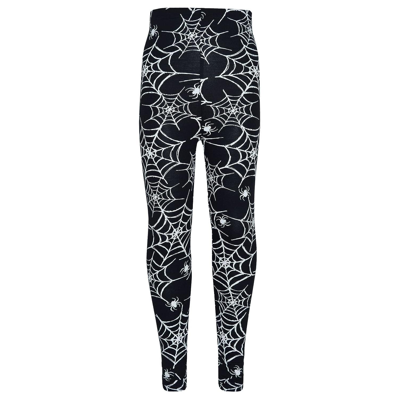 A2Z 4 Kids® Girls Halloween Legging Spider Web Skull Print Leggings Fancy Costume New Age 3 4 5 6 7 8 9 10 11 12 13 Years