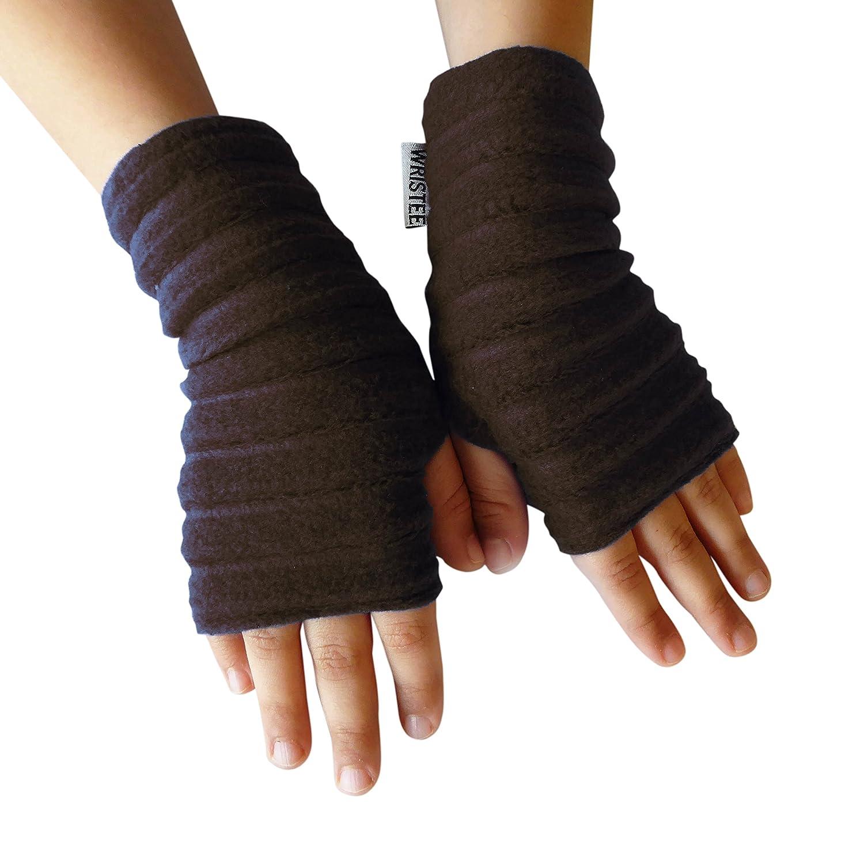 Wristee®, Kids Unisex fingerless gloves & wrist warmers for Girls & Boys (Extra Small, Black)