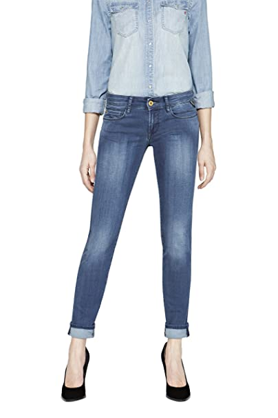 Replay WX613 .000.41A 605 - vaquero para mujer skinny, color azul (blu (blau (blue denim 9), talla 34 amazon el-azul Pitillo