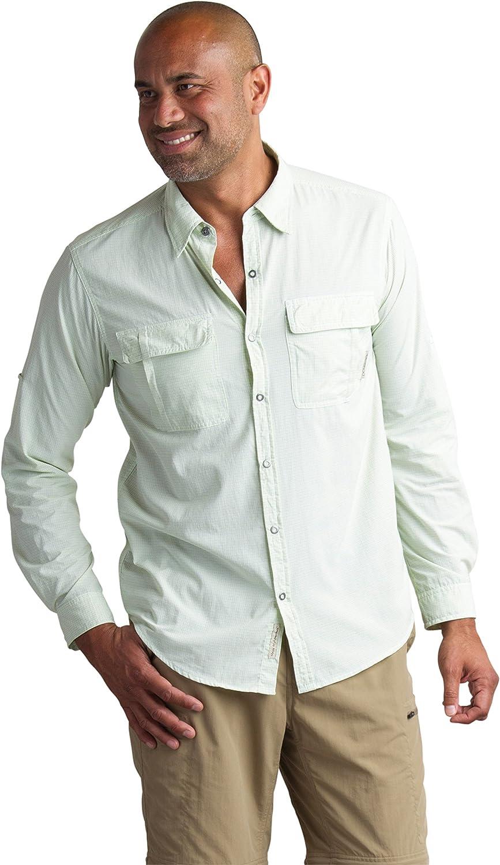 Image of Button-Down Shirts ExOfficio Men's BugsAway Halo Check Long Sleeve, Gecko, XX-Large