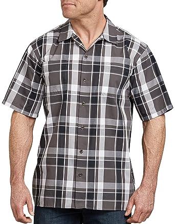 8cae0ed9 Amazon.com: Dickies Men's Yarn Dyed Short Sleeve Camp Shirt 6X Big-Tall:  Clothing