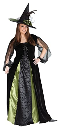 1c89502e4 Amazon.com: Goth Maiden Witch Adult Costume - Plus Size 1X/2X: Clothing