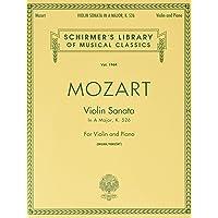 Sonata For Violin And Piano K526: Schirmer Library of Classics Volume 1964 Violin and Piano