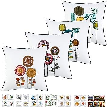 Amazon.com: Onice - Funda de almohada de lino y algodón para ...