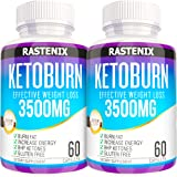Keto Pills - 3X Potent (2 Pack | 120 Capsules) - Advanced Keto Burn Diet Pills - Boost Energy and Metabolism - Exogenous…
