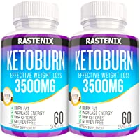 Keto Pills - 3X Potent (2 Pack | 120 Capsules) - Advanced Keto Burn Diet Pills - Boost Energy and Metabolism - Exogenous Keto BHB Supplement for Women and Men (2 Pack)