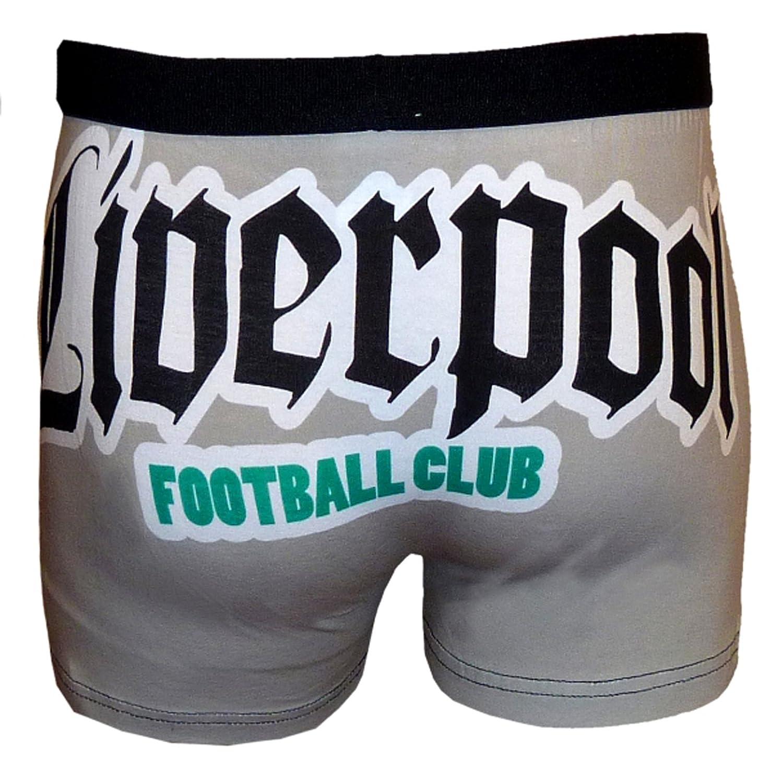 Liverpool F. C. - Bóxers para hombre, diseño de equipo Liverpool, color gris negro negro Talla:small: Amazon.es: Ropa y accesorios