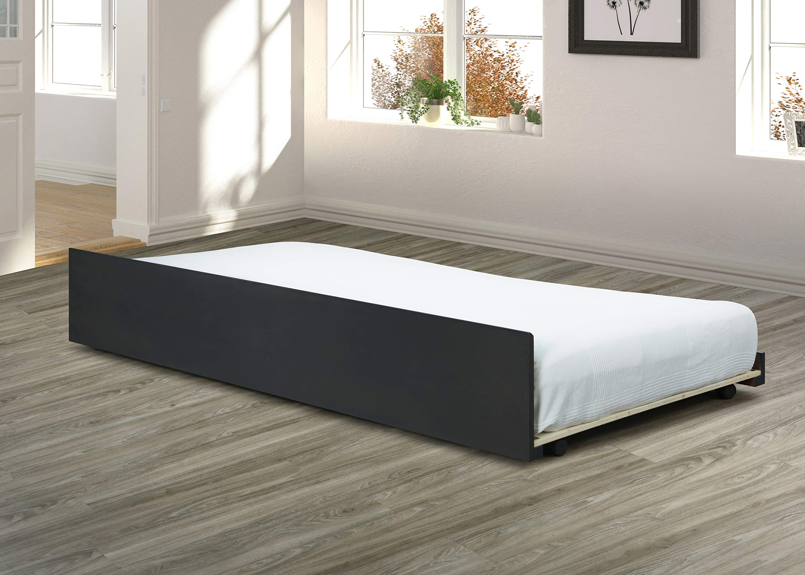 Furniture BU38/9-T Trundle Bed Only Only, Gray by Best Quality