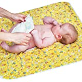 "Baby Portable Changing Pad - Diaper Change Pad Large Size (25.5""x31.5"") - Waterproof Diaper Changing Mat for Girls Boys…"