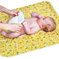 Baby Changing Mat for Home Travel - Large Size 80 x 65 cm - Reusable Portable Waterproof Diaper Change Pad with…