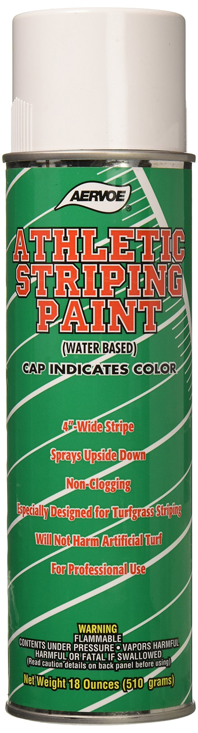 Tapco 2910-00020 Athletic Striping Paint Can, 18 oz Capacity, White, For Grass/Turf Marking (Case of 12)