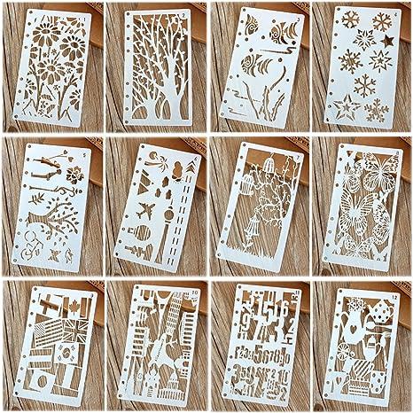 8 Kid DIY Drawing Template Stencils Rulers Painting Scrapbooking Card Making