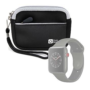 Duragadget Pochette Housse Noire de Protection pour Montre connectée Apple iWatch 3ème série Nike+, Hermes