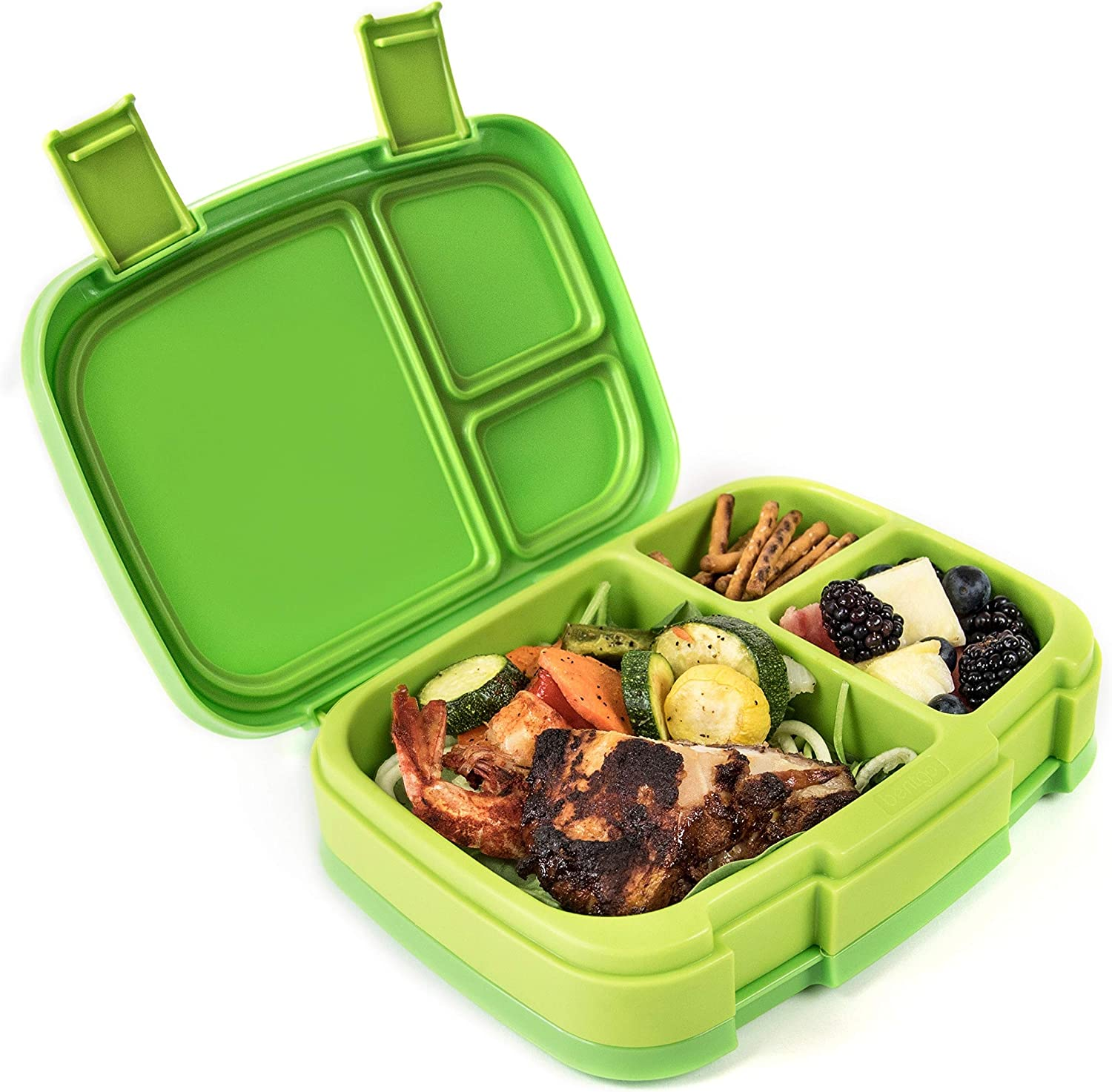 Bentgo Fresh (Green) – Leak-Proof & Versatile 4-Compartment Bento-Style Lunch Box – Ideal for Portion-Control and Balanced Eating On-the-Go – BPA-Free and Food-Safe Materials