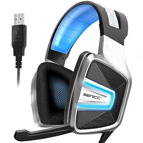 Amazon.com: SENICC A8 7.1 Auriculares de sonido envolvente ...