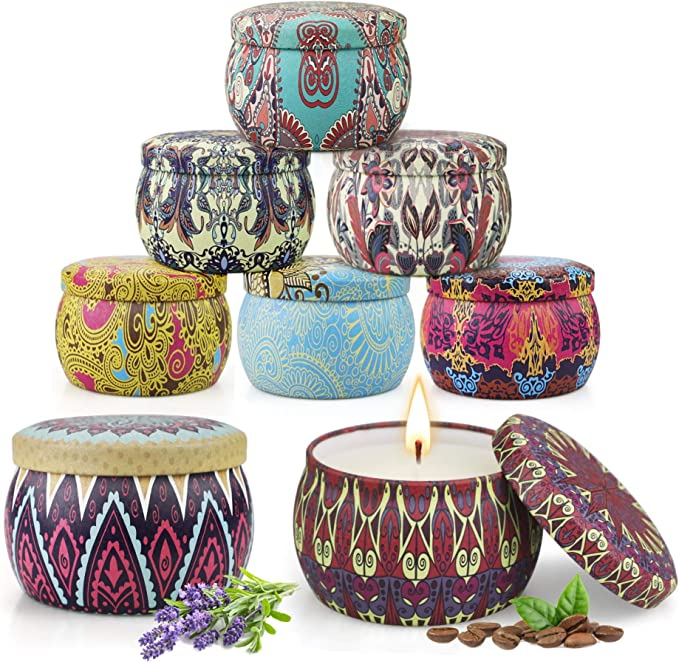 Wooden Wick Mountain Collection Soy Wax Candles Craft Candles Candle Gift Set Home Decor 8.5 oz Handmade ECO Vegan