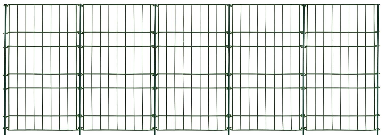"""Massiv Metall Zaun - Set """"Rüden"""" 11 tlg. - 240 x 80 cm - anthrazit - Teichzaun, Tiergehege, Gartenzaun, Steckzaun, Rabattenzaun, Hundezaun, Katzenzaun, Hühnerzaun, Rankhilfe, Zaunmatten Hühnerzaun Gaardi"""