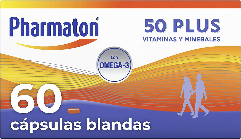 Pharmaton 50+| Multivitamínico con Omega 3 | 60 cápsulas: Amazon.es: Salud y cuidado personal