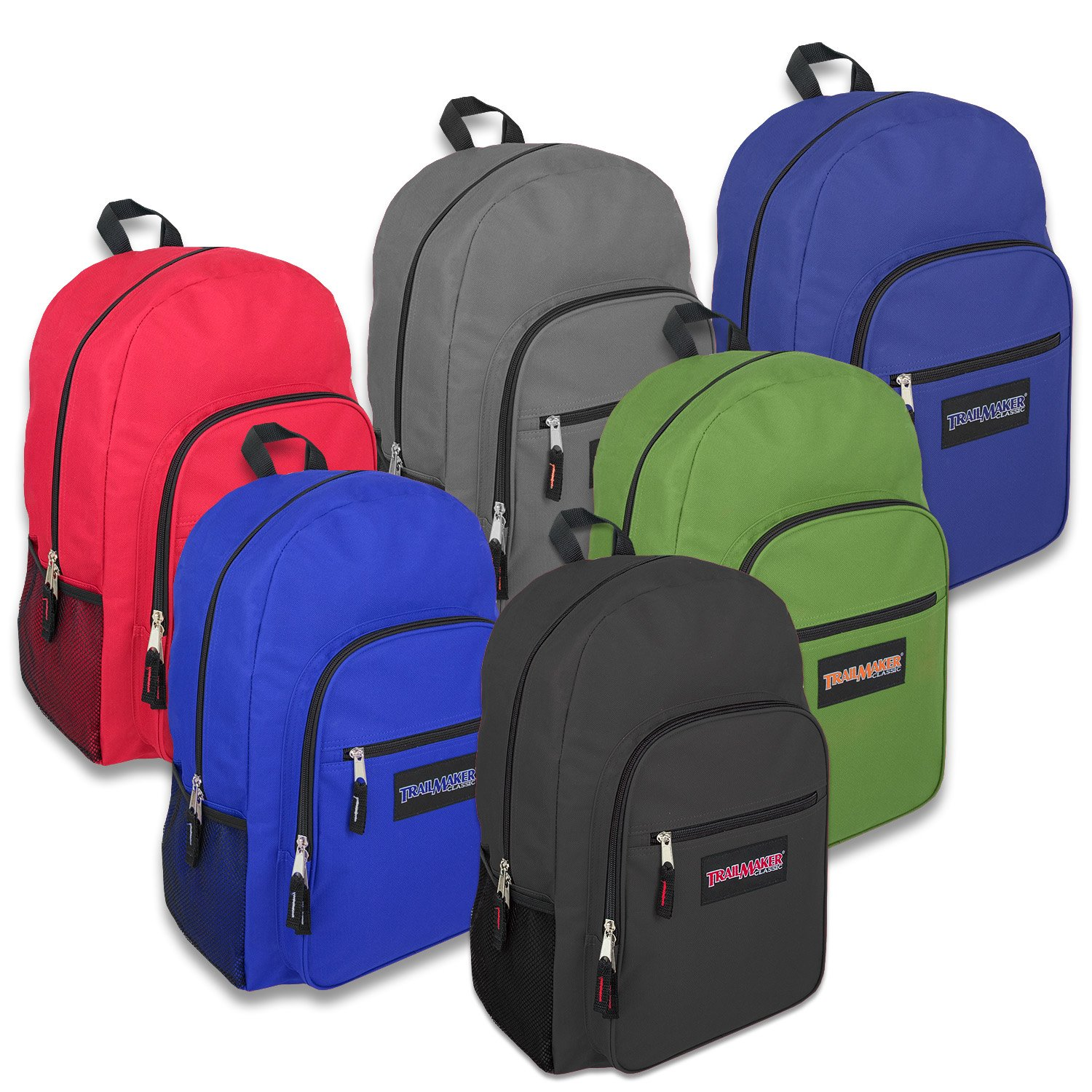 High Trails Deluxe 19 Inch Backpack - 6 colors (Pack Of 24)