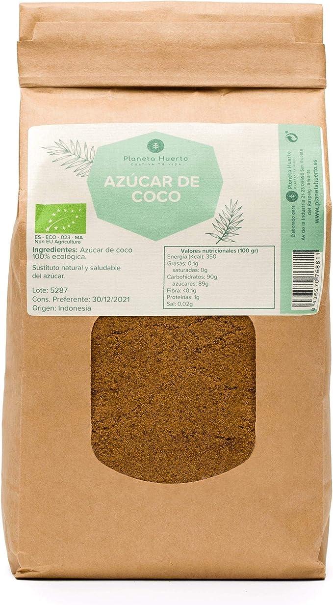 Planeta Huerto | Azúcar de Coco Ecológica 100% Natural 500 gr ...