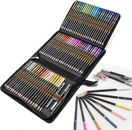 Lápices de Colores profesionales para adultos y niños, Juego de 72 Lapices Colores con colores vibrantes, incluye lápices para colorear, sacapuntas y estuche lapices: Amazon.es: Oficina y papelería