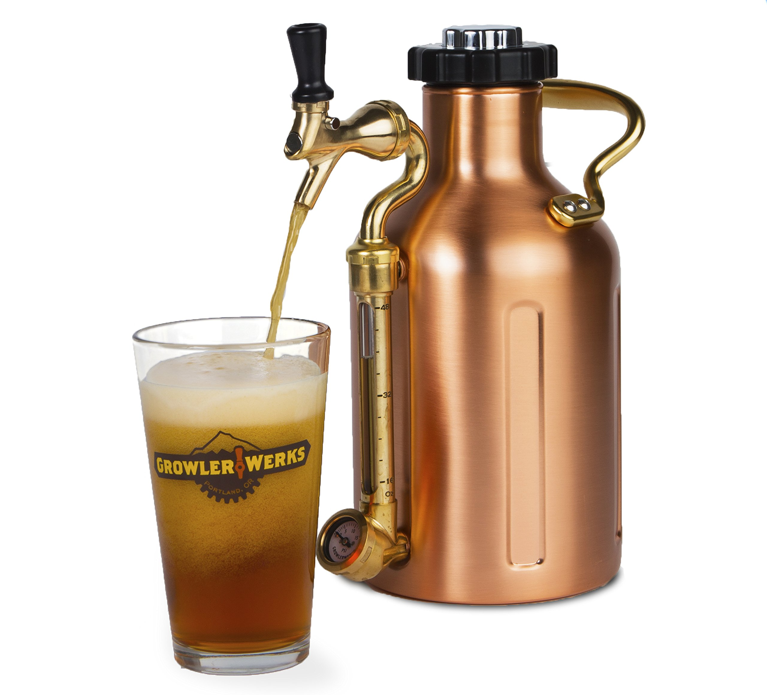 uKeg 64 Pressurized Growler for Craft Beer - Copper by GrowlerWerks (Image #4)