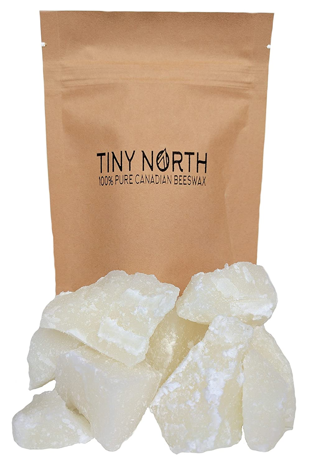 100% Pure Canadian Beeswax - Cosmetic Grade - Charcoal Filtered - All Natural Chunks - White - 50 g (1.75 oz) Tiny North
