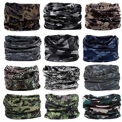 ed450e57cae Headwear Head Wrap Sports Headband Sweatband Casual Magic Scarf Bandana 12  in 1 Multifunctional 12PCS