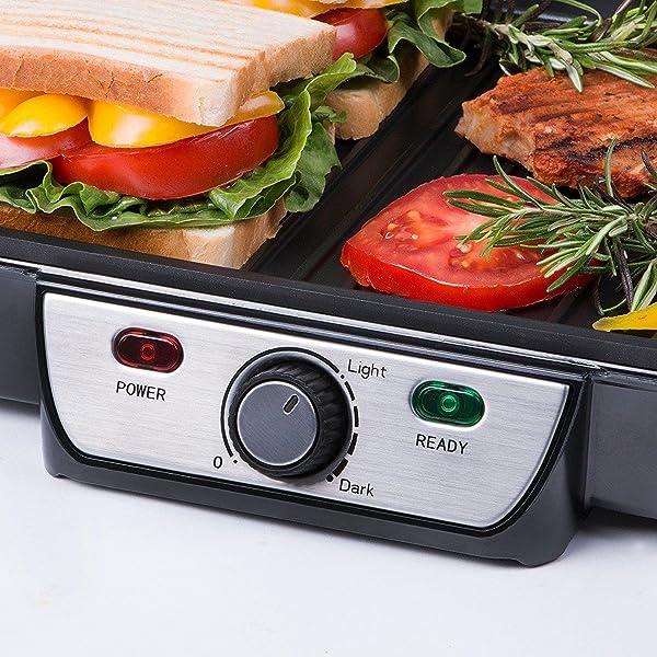 81ChzRXtDsL. SL600  Aigostar Calore 30HHK, panini maker e griglia elettrica per sandwich da 1800 watt