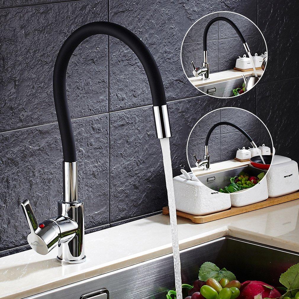 Auralum Monotube Cuisine Robinet Noyau de Valve en C/éramique M/élangeur de Cuisine Accessoires pour les Eviers de Cuisine