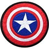 """Captain America Size 2.75"""" Inch Super Hero Comic Avenger Embroidered Iron/sew on Patch Ready Cool Patch"""