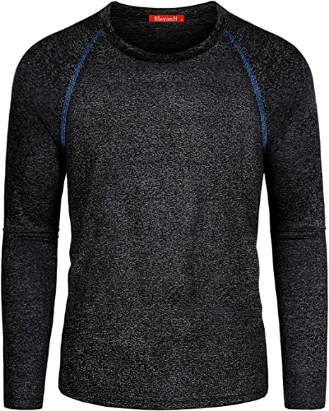 Blevonh Womens Long Sleeve V Neck Athletic Workout Pullover Hoodies