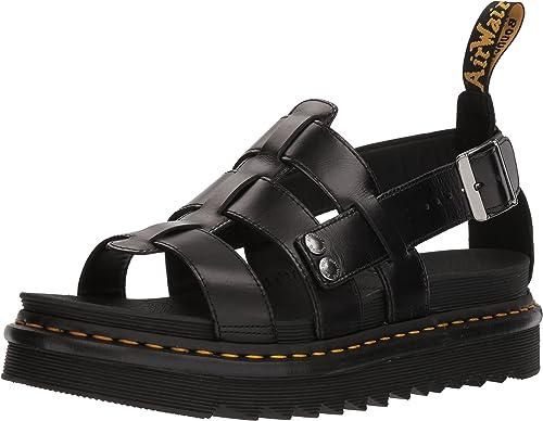 2018 skor köp bra presenter Amazon.com   Dr. Martens Terry Black Brando Sandal   Sandals