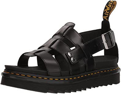 3b7a6fc79c Dr. Martens Terry Black Brando Sandal, 9 Medium UK (US Men's 10 US