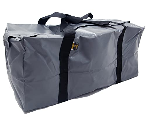 Lapco FR LAP-BVD1636GRY Heavy-Duty Weather-Resistant Vinyl Bag, 18 oz, X-Large with Dividers, Gray