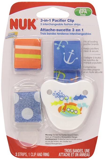 Amazon.com: NUK 62077 Fashion Chupete clip, varios colores: Baby