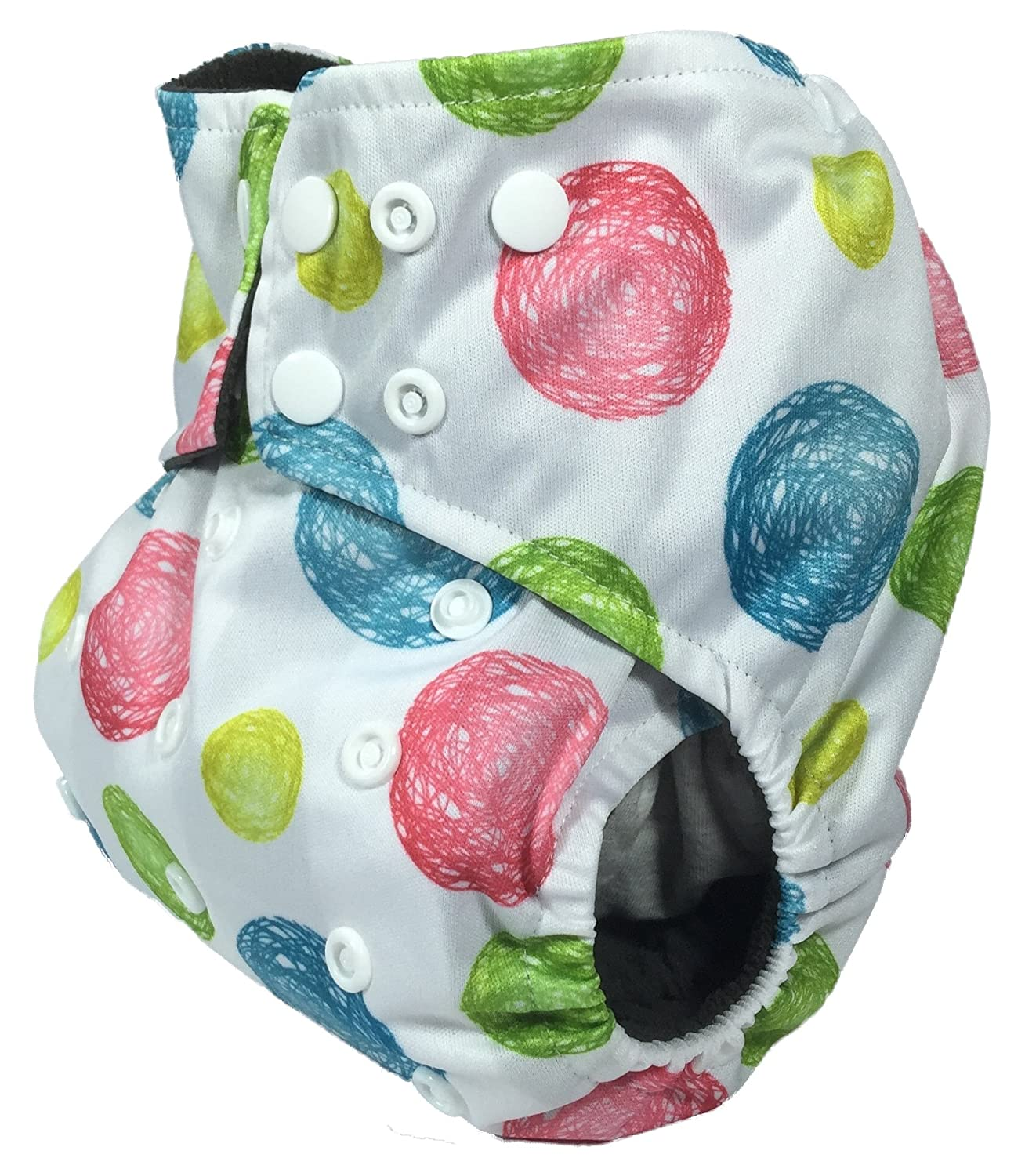 Amazon Com Charcoal Bamboo Double Gusset Pocket Diaper With 4