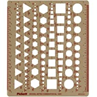 Pickett English and Metric Template, Circles, Squares, Hexagons and Triangles (1037I)