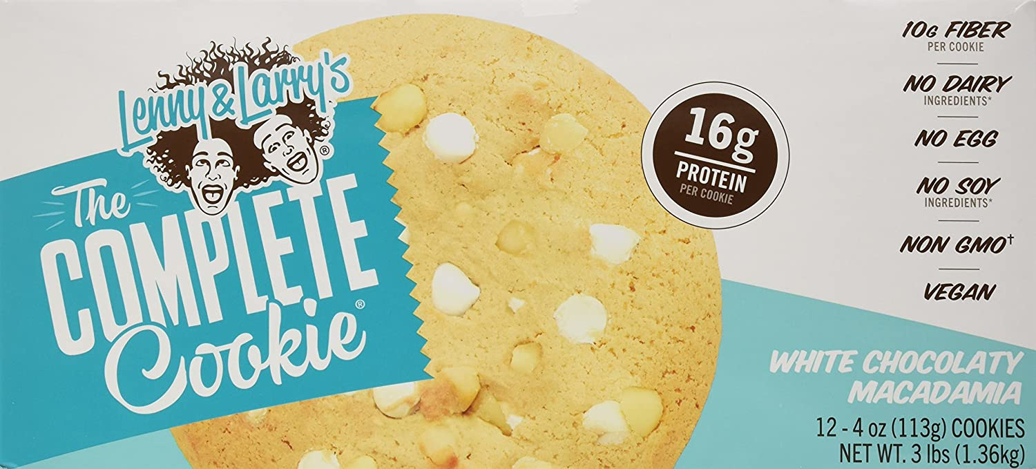 Lenny & Larrys The Complete Cookie White Chocolate Macademia - 12 Barras: Amazon.es: Salud y cuidado personal