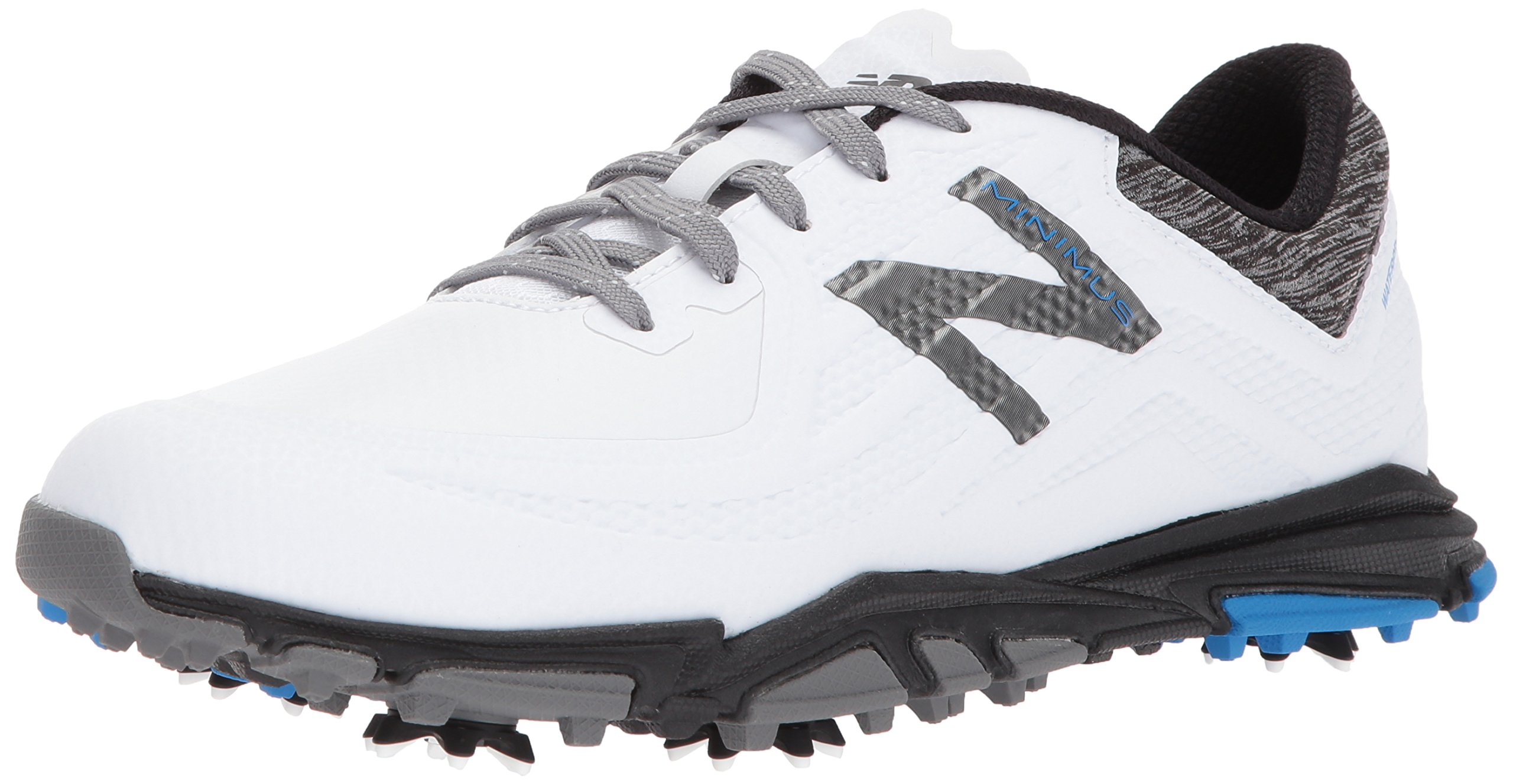 New Balance Men's Minimus Tour Golf Shoe, White/Black, 12 2E 2E US