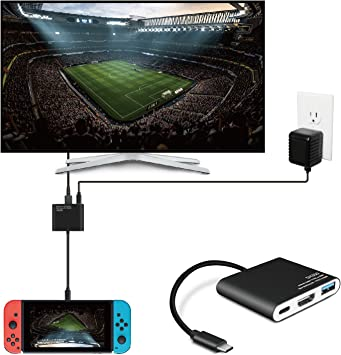 TNP Products TNP - Adaptador tipo C a HDMI para Nintendo Switch - USB tipo C Hub, puerto