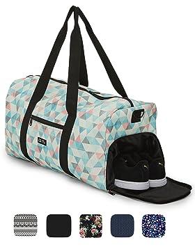30f6e6adc Elegante bolso deportivo Ela Mo, bolsa de viaje con compartiment para  zapatos, maletín de