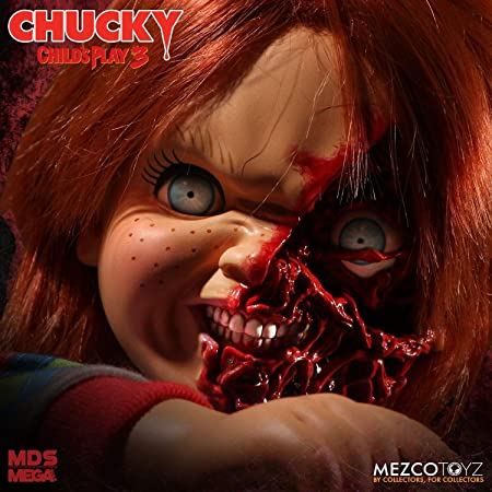 Child/'s Play Pizza Face Chucky Talking Mega-Scale 15-Inch Doll