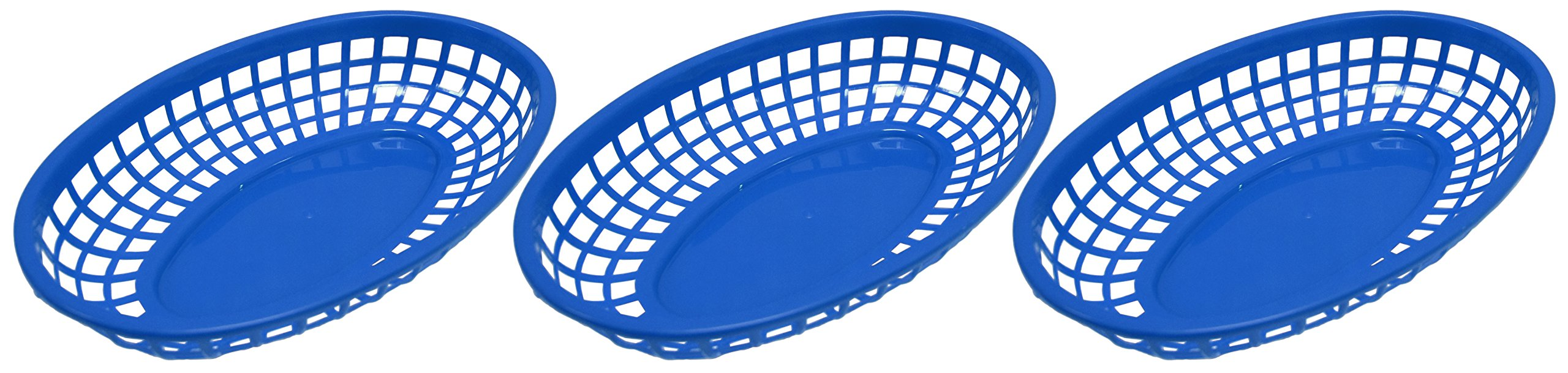 Set of 12 Blue Oval Fast Food / Deli Baskets, 9.25 by 5.67-Inch, Blue (12) by Regent (Image #2)